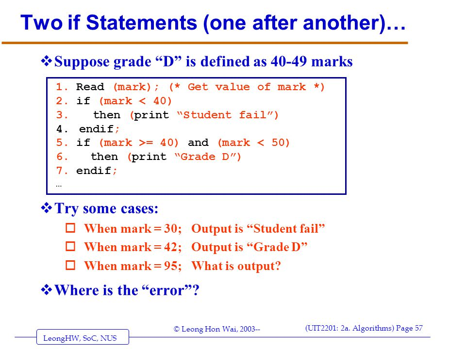Two if Statements (one after another)…