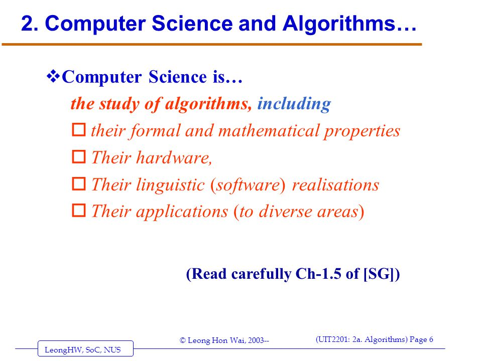 2. Computer Science and Algorithms…