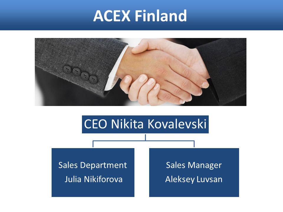 ACEX Finland CEO Nikita Kovalevski Sales Department Julia Nikiforova
