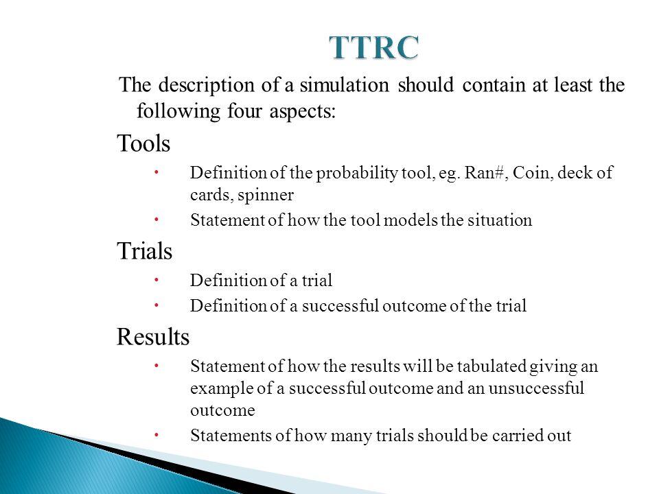 TTRC Tools Trials Results