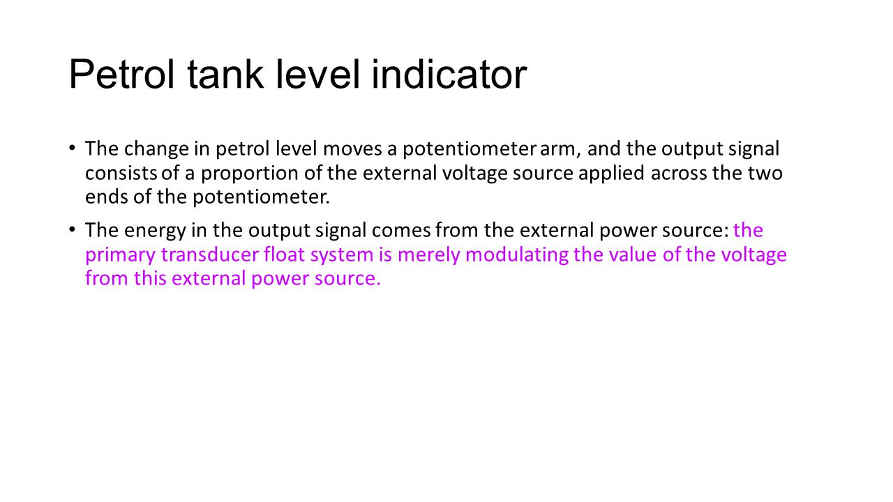 Petrol tank level indicator