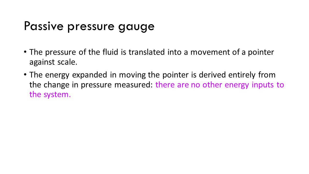 Passive pressure gauge