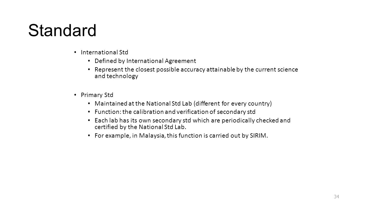 Standard International Std Defined by International Agreement