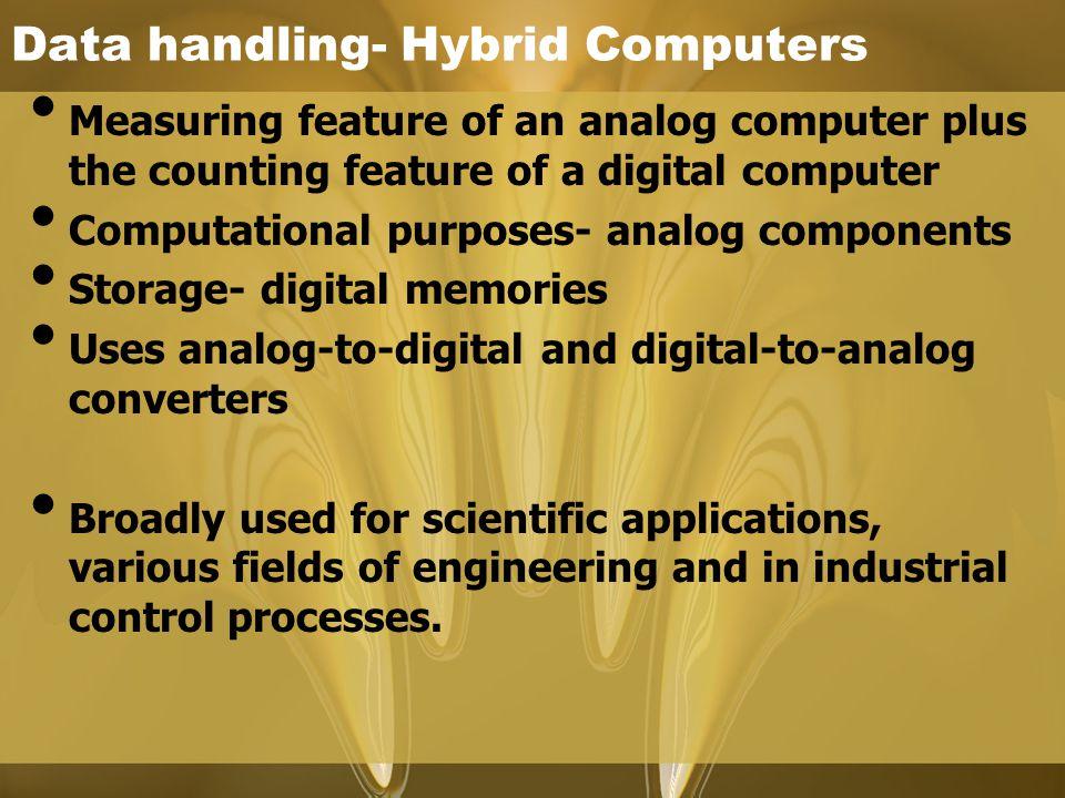 Data handling- Hybrid Computers
