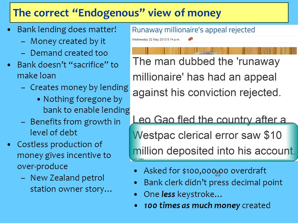The correct Endogenous view of money