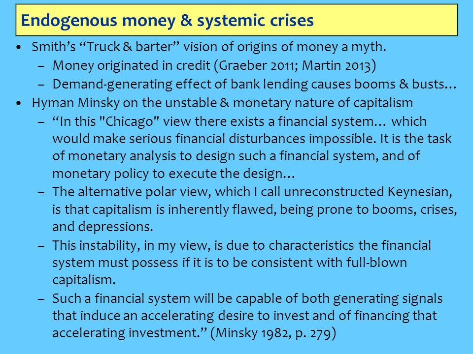 Endogenous money & systemic crises
