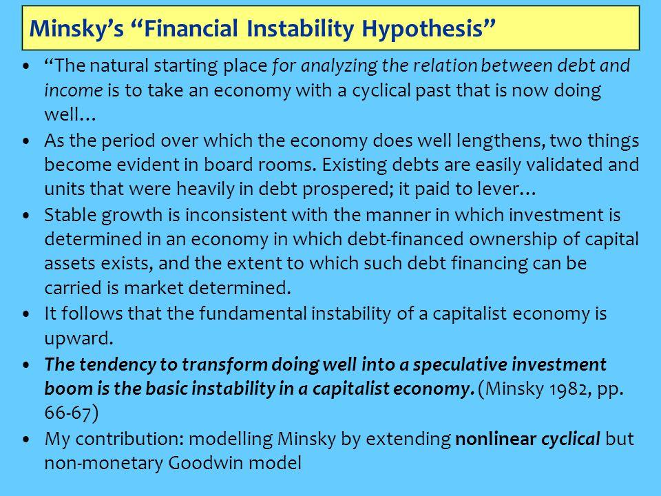 Minsky's Financial Instability Hypothesis