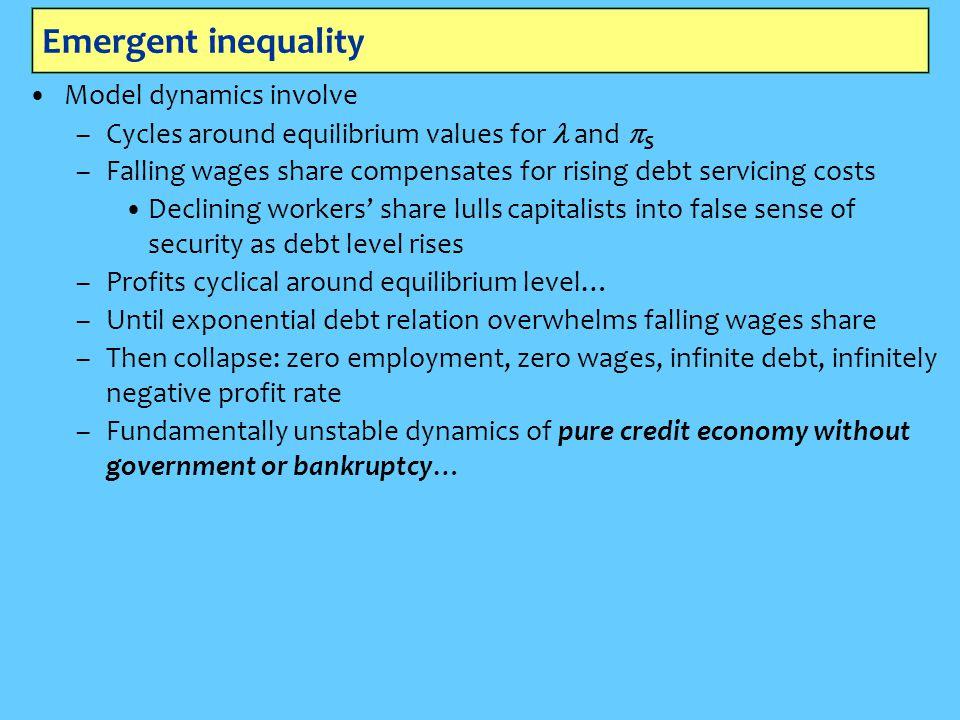 Emergent inequality Model dynamics involve