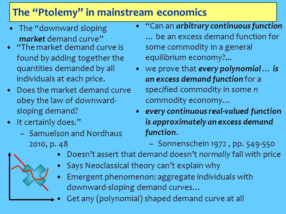 The Ptolemy in mainstream economics