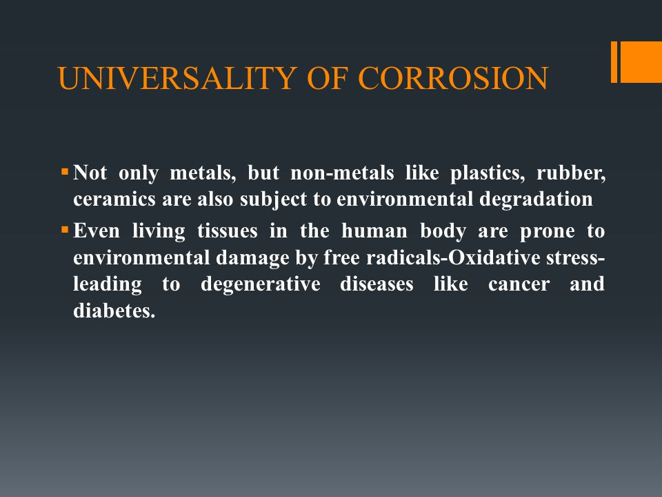 UNIVERSALITY OF CORROSION