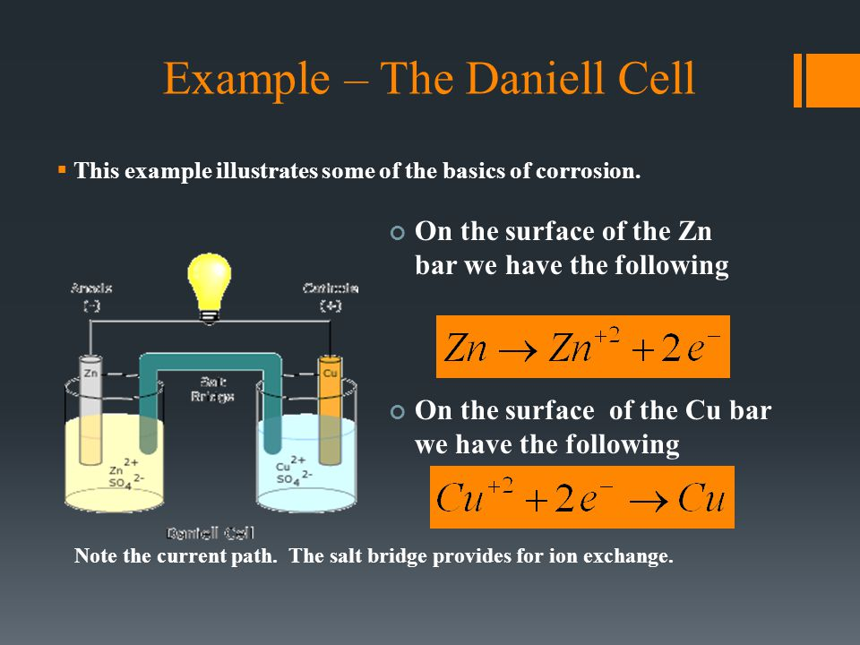 Example – The Daniell Cell