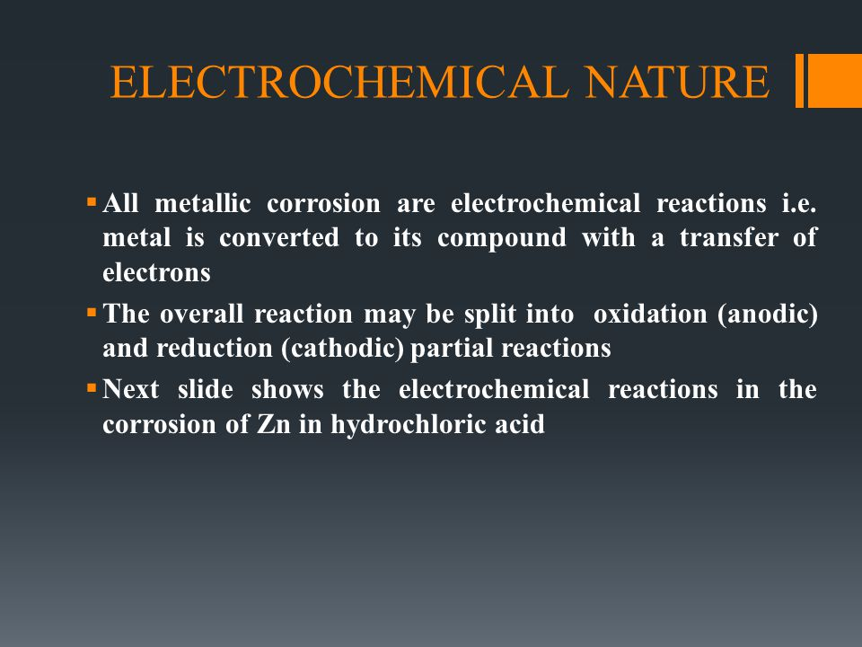 ELECTROCHEMICAL NATURE