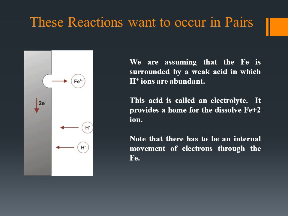 These Reactions want to occur in Pairs