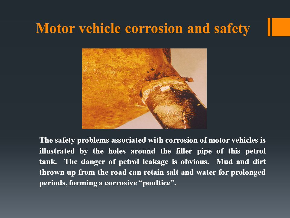 Motor vehicle corrosion and safety
