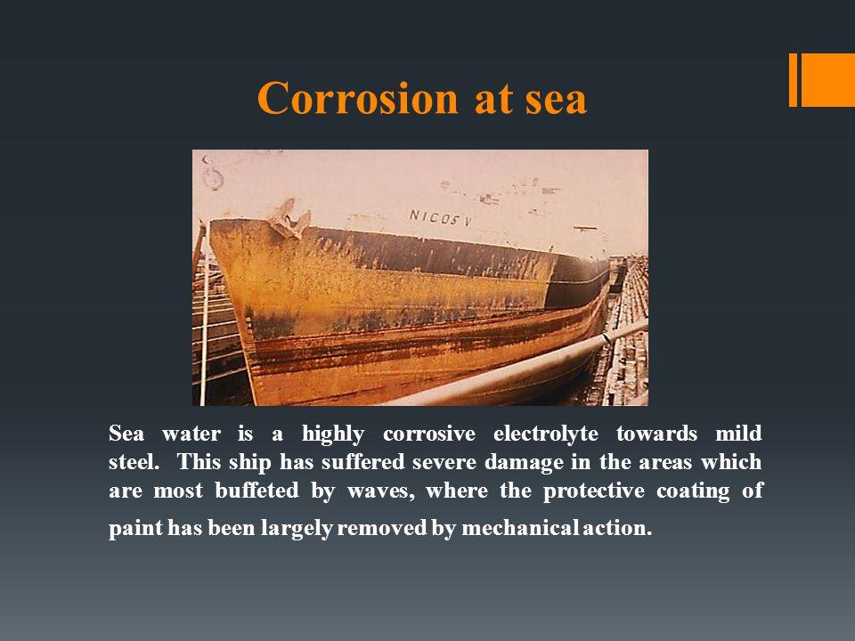 Corrosion at sea