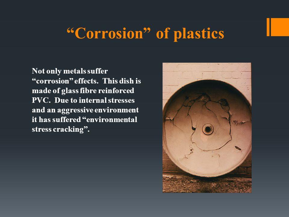 Corrosion of plastics