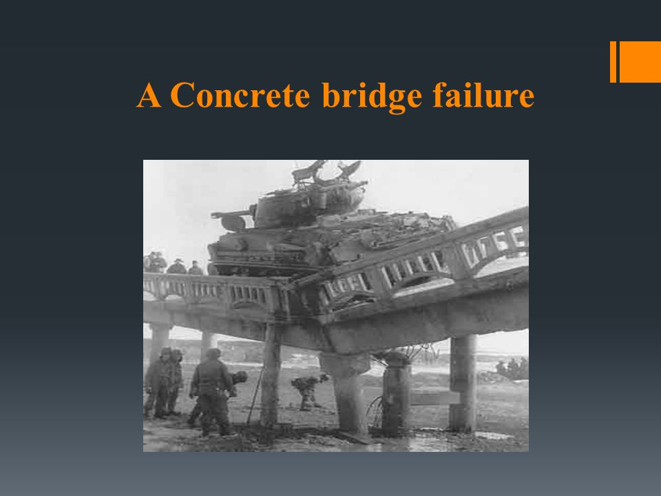 A Concrete bridge failure