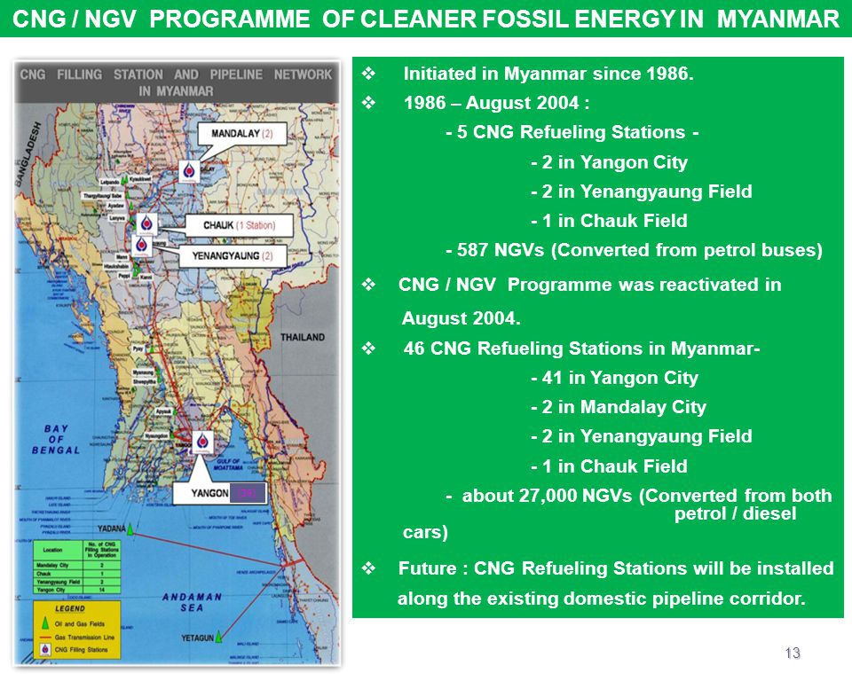 CNG / NGV PROGRAMME OF CLEANER FOSSIL ENERGY IN MYANMAR