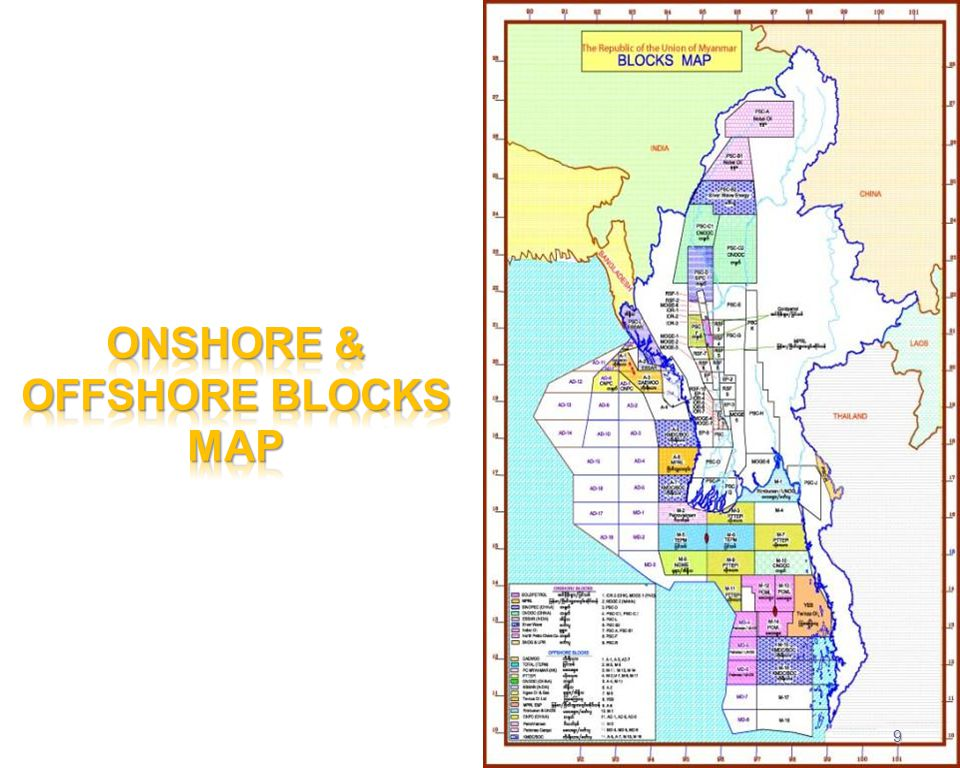ONSHORE & OFFSHORE BLOCKS MAP