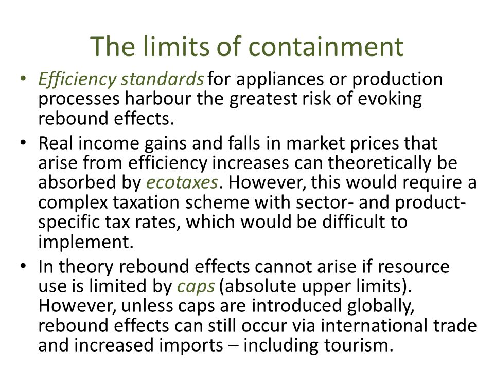 The limits of containment