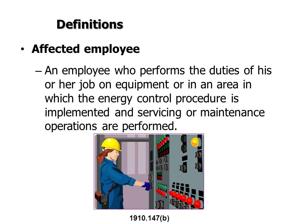 Definitions Affected employee