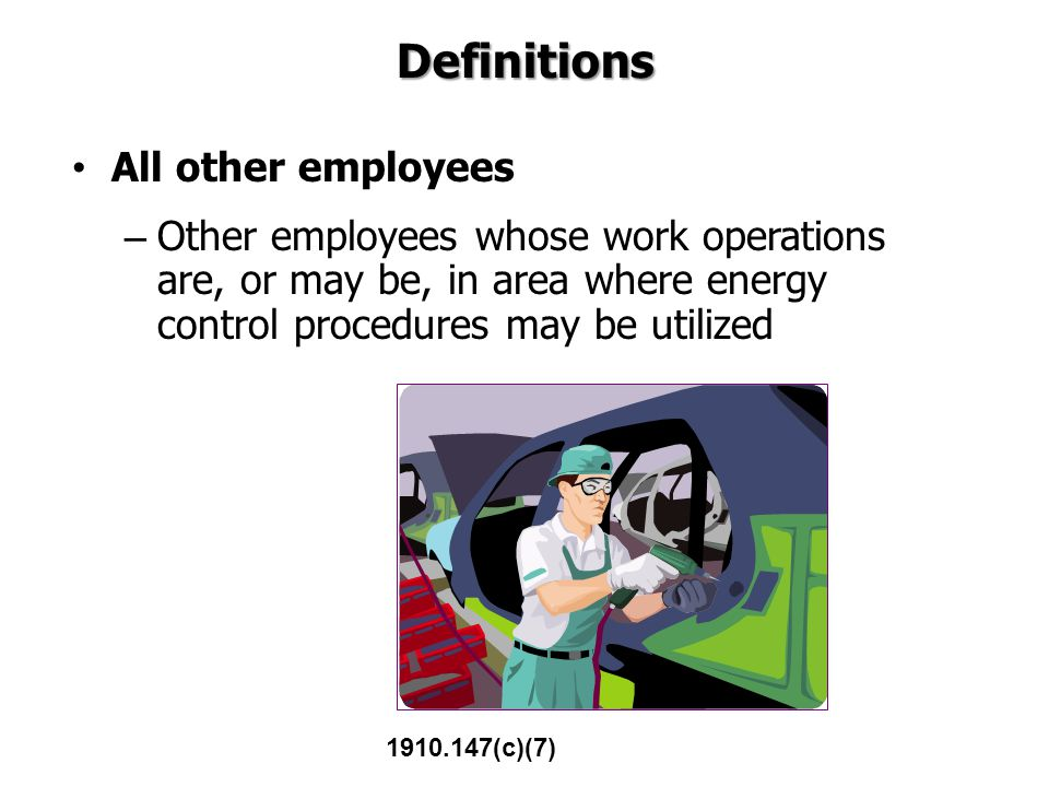 Definitions All other employees