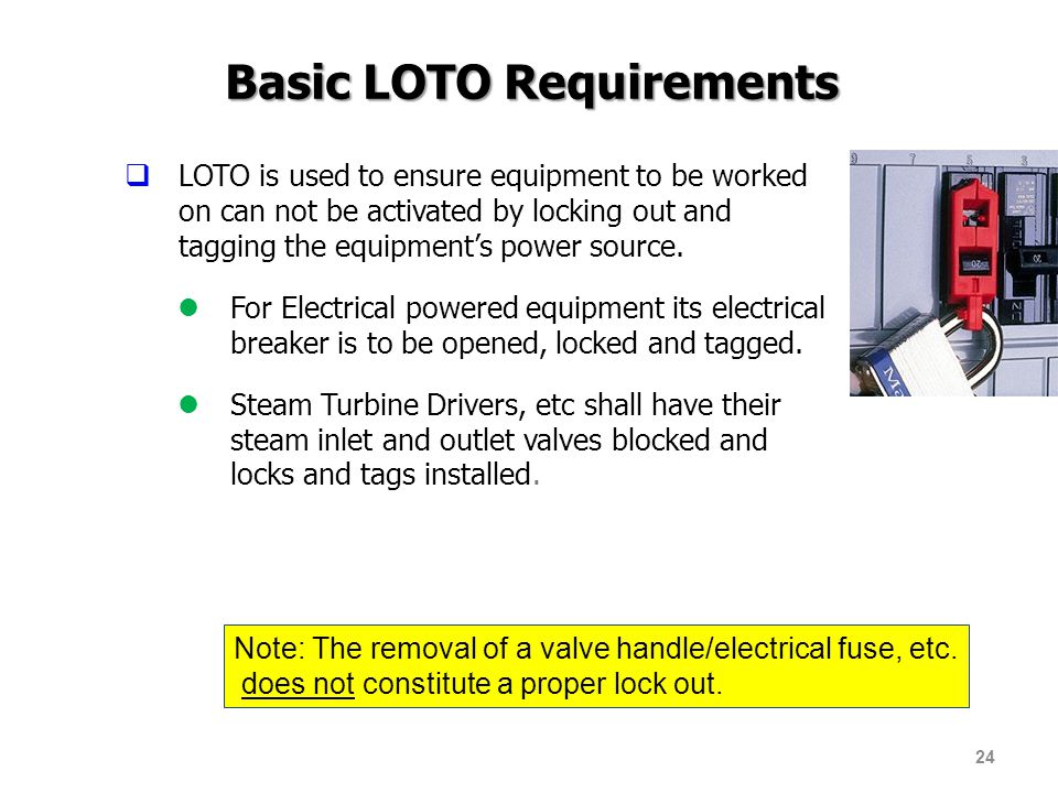 Basic LOTO Requirements