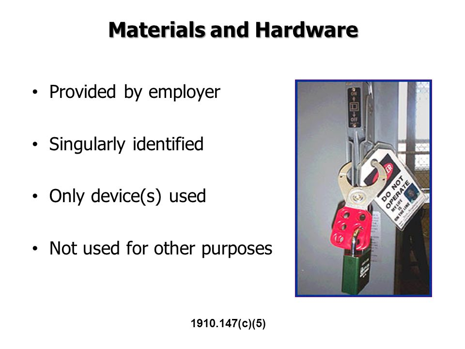 Materials and Hardware