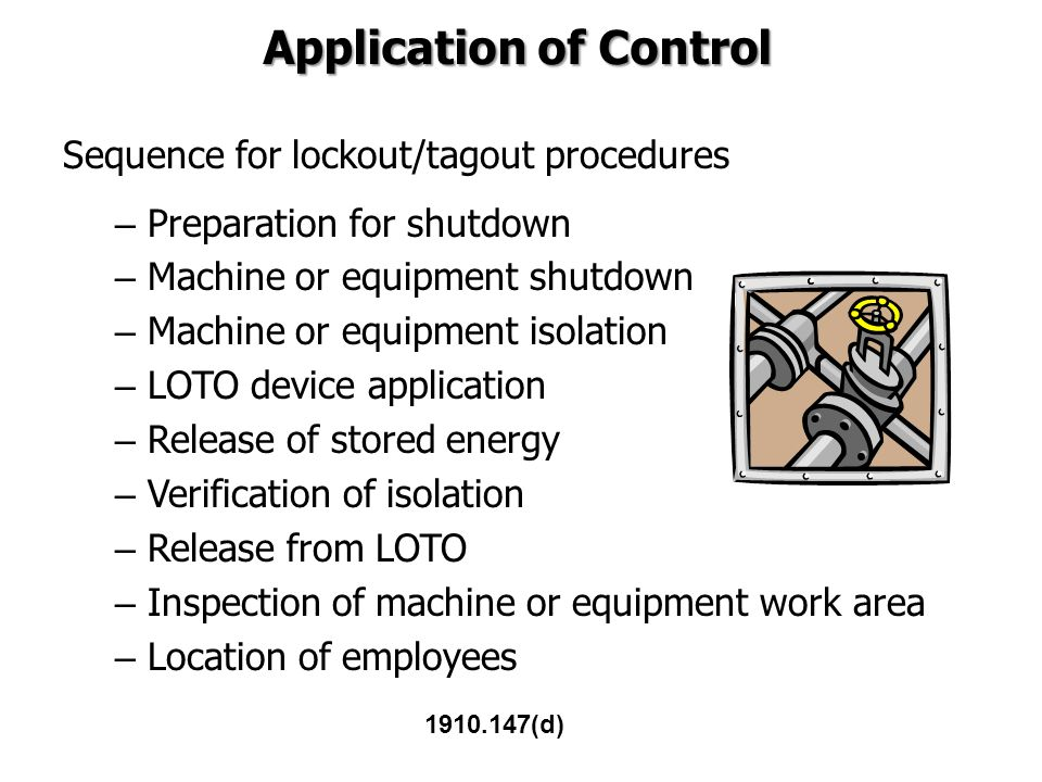 Application of Control