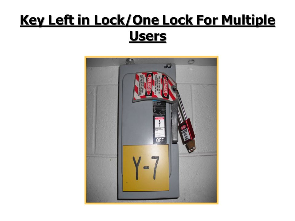 Key Left in Lock/One Lock For Multiple Users