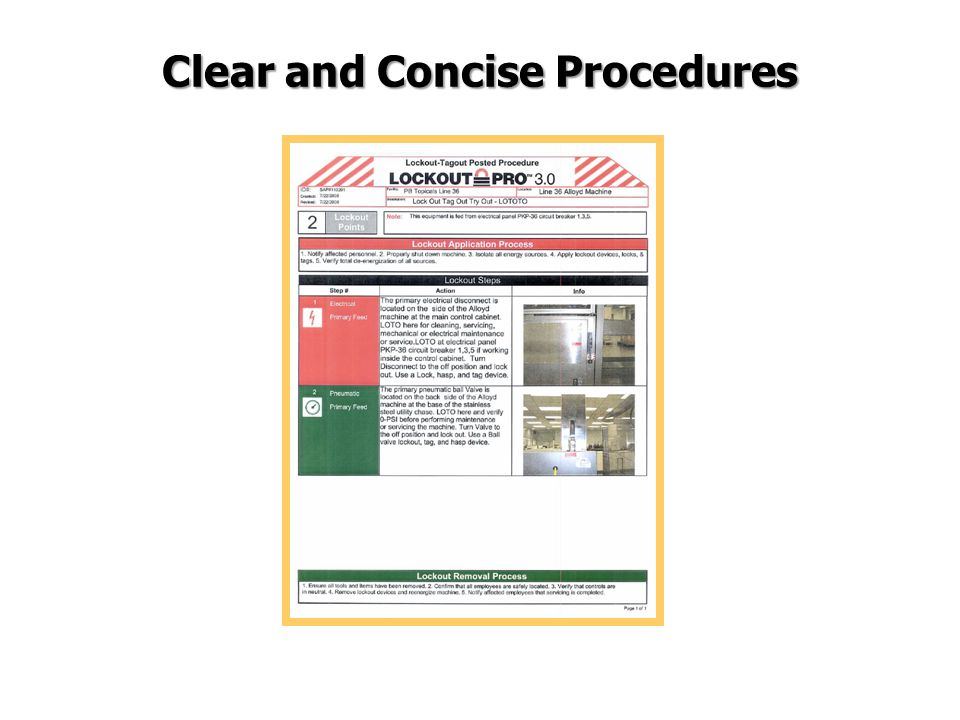 Clear and Concise Procedures