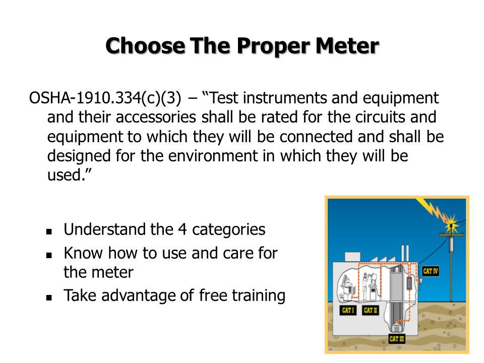 Choose The Proper Meter
