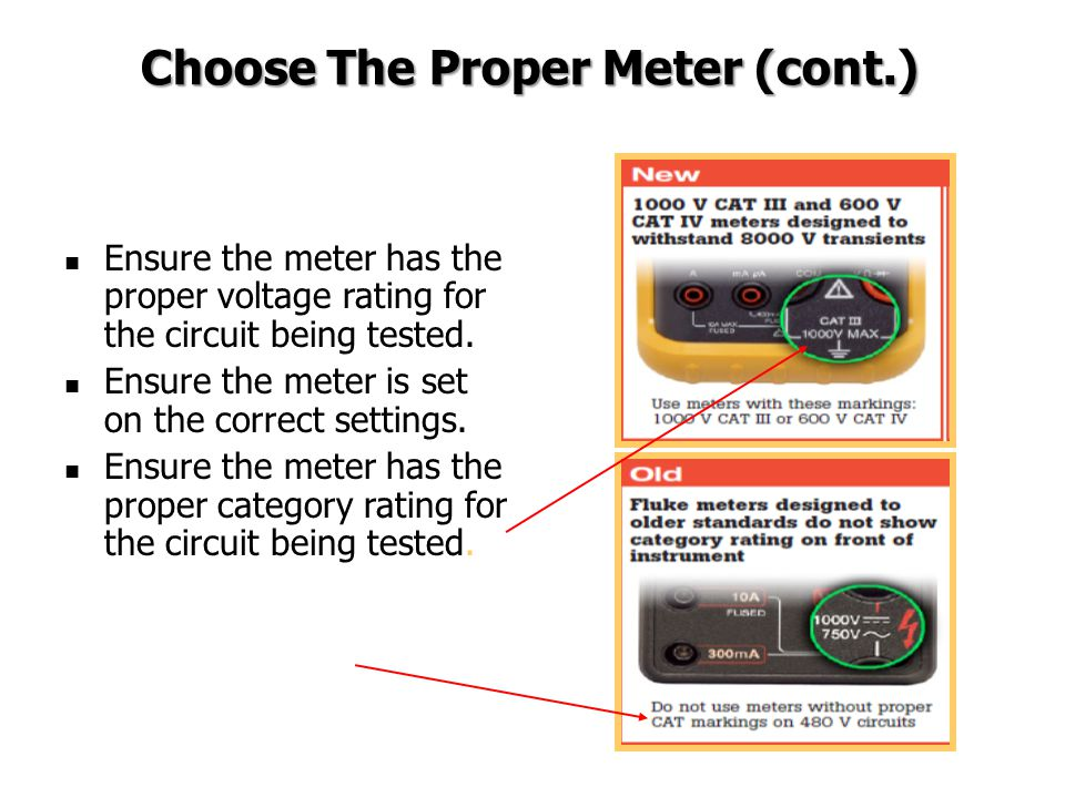 Choose The Proper Meter (cont.)