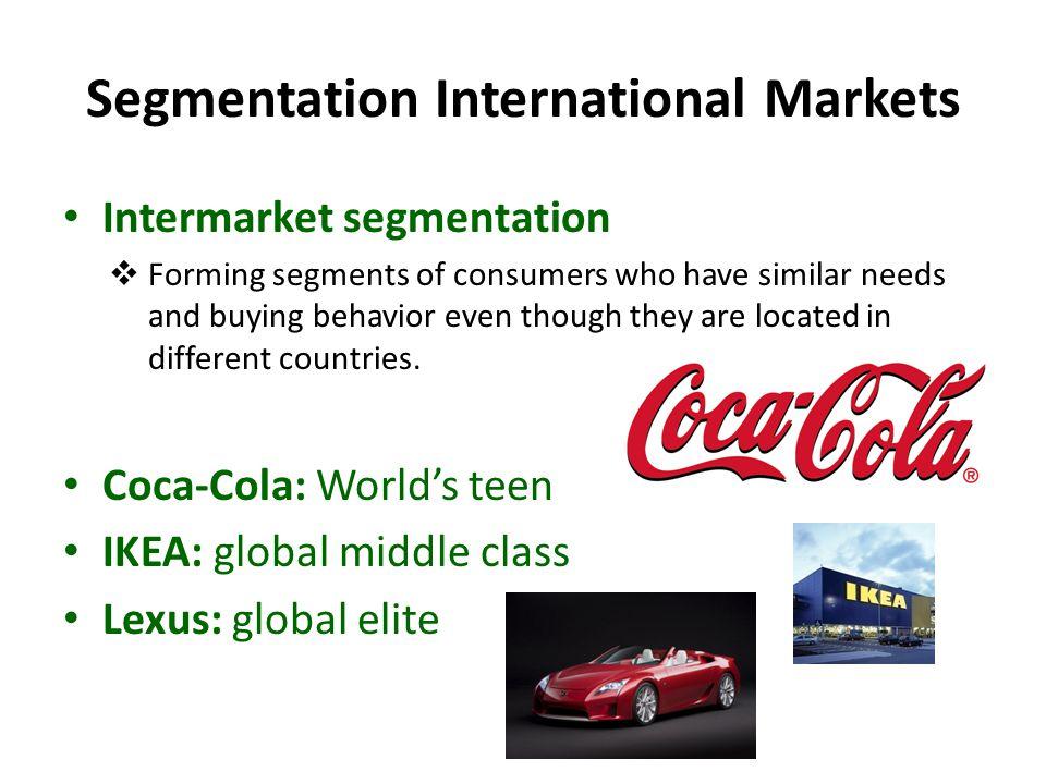 Segmentation International Markets