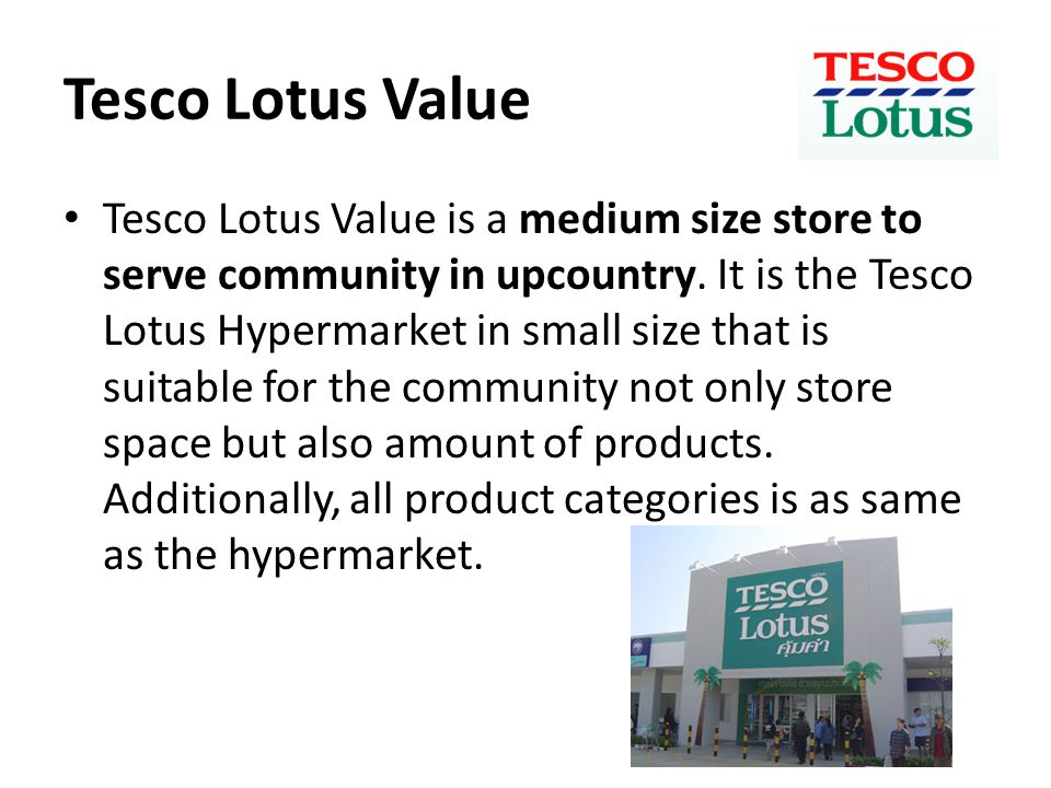 Tesco Lotus Value