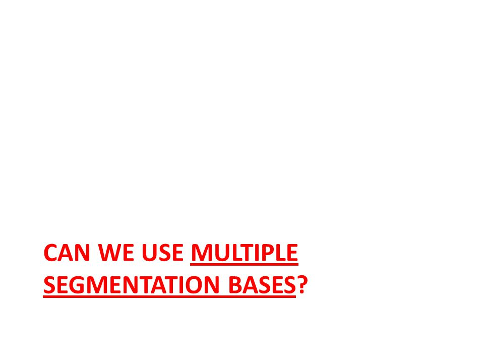 Can we use multiple segmentation bases