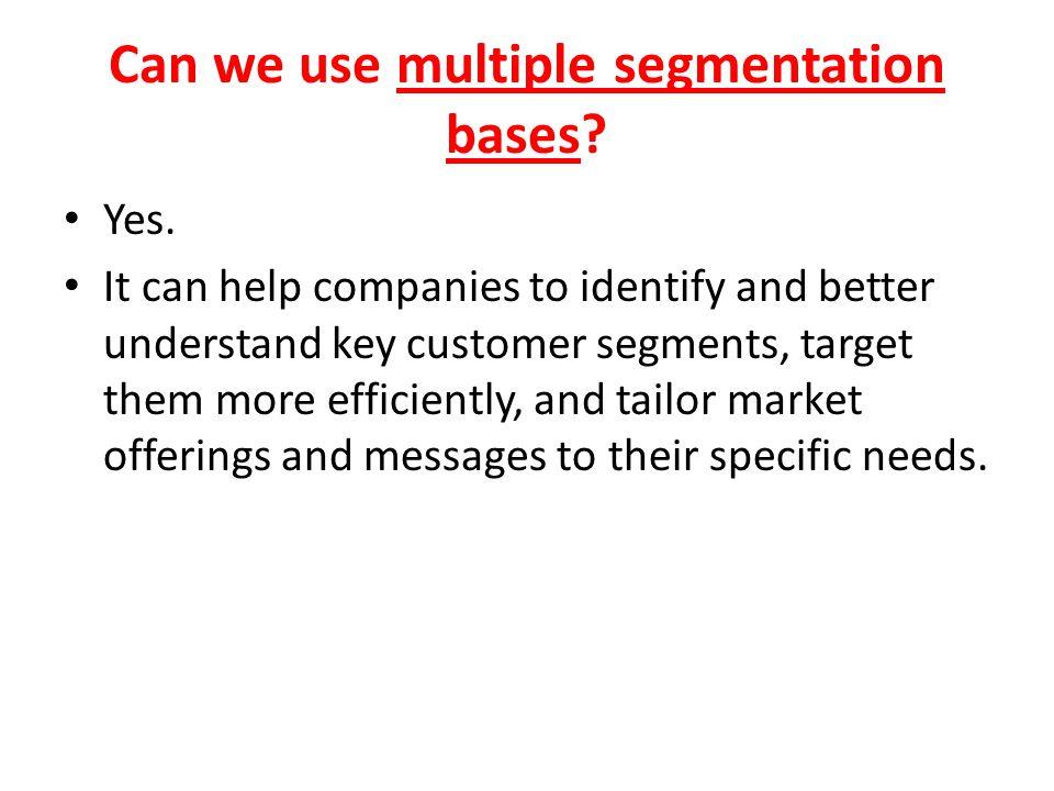 Can we use multiple segmentation bases