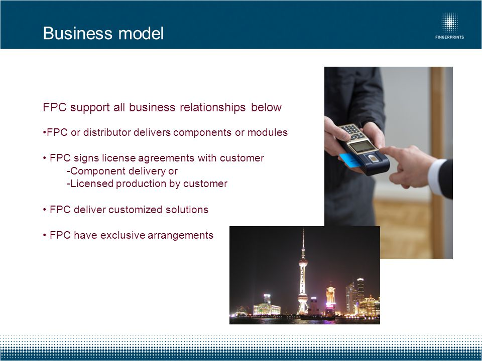 Business model FPC support all business relationships below