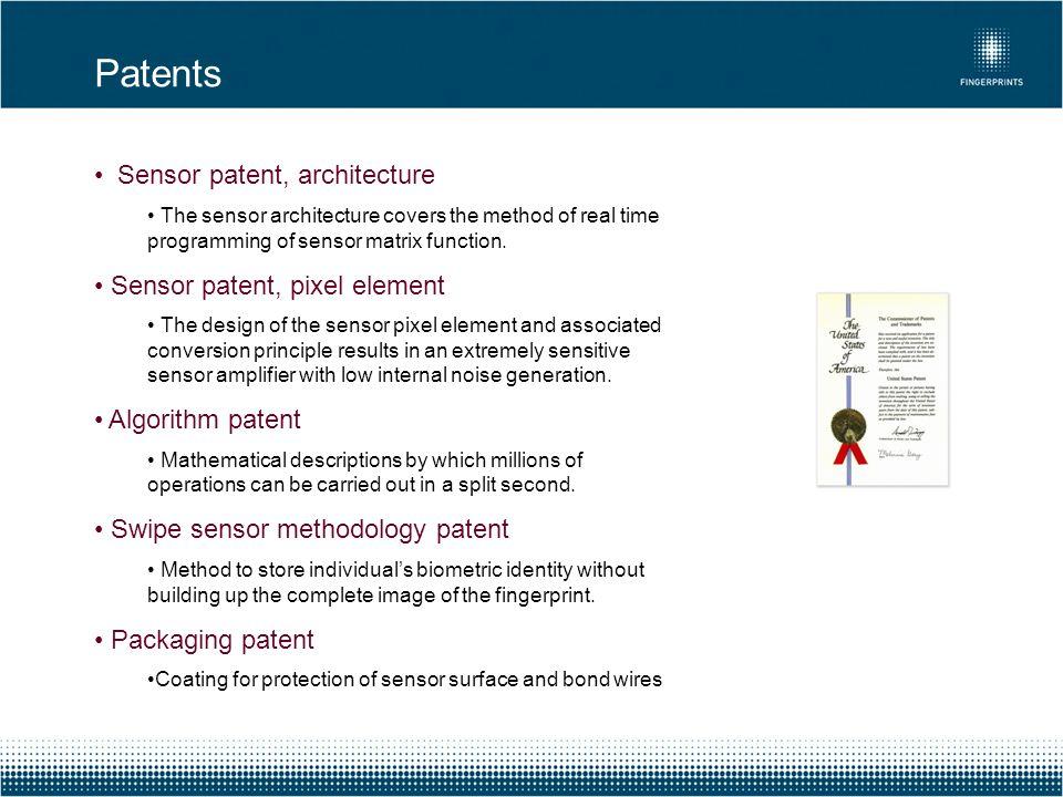 Patents Sensor patent, architecture Sensor patent, pixel element