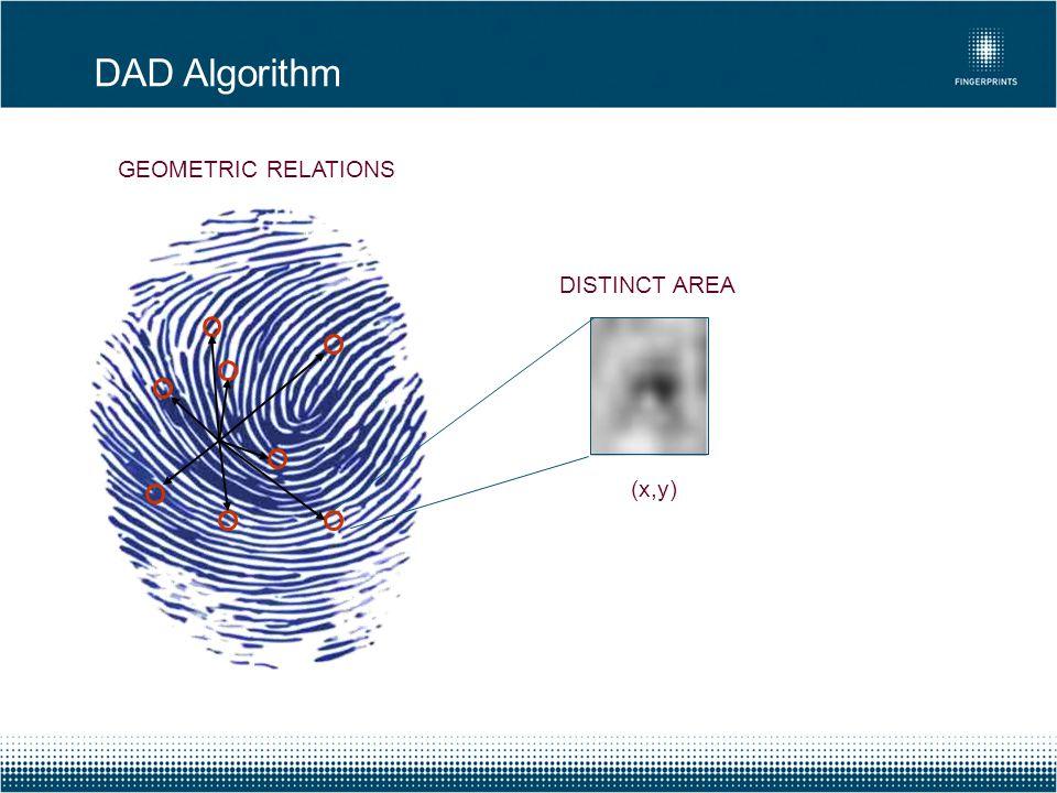 DAD Algorithm GEOMETRIC RELATIONS DISTINCT AREA (x,y)