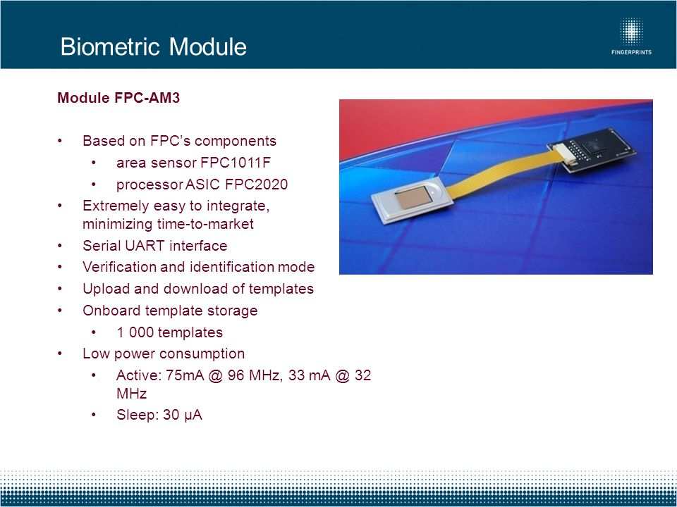 Biometric Module Module FPC-AM3 Based on FPC's components