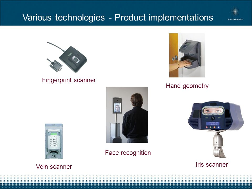 Various technologies - Product implementations