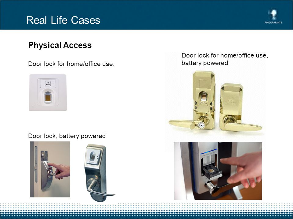 Real Life Cases Physical Access Door lock for home/office use.