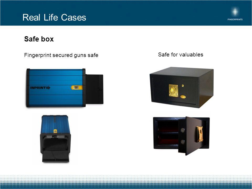 Real Life Cases Safe box Fingerprint secured guns safe
