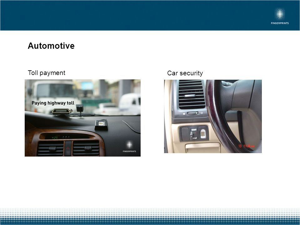 Automotive Toll payment Car security