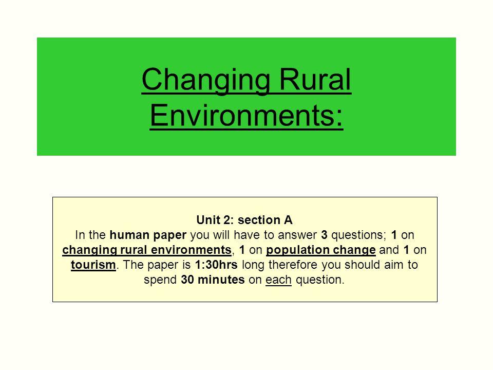 Changing Rural Environments: