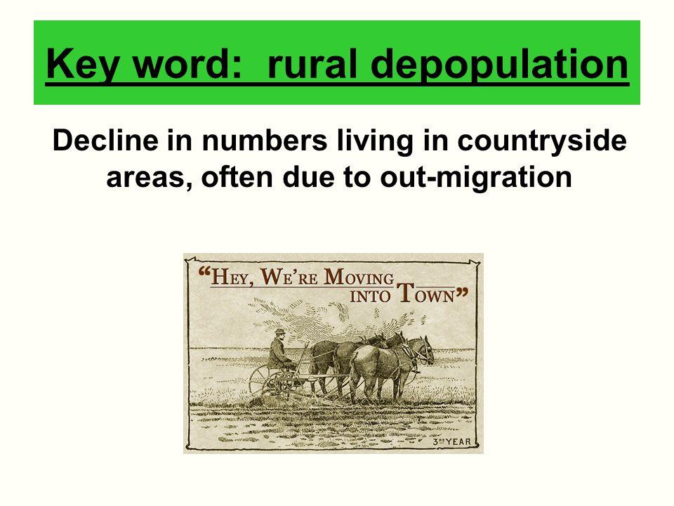 Key word: rural depopulation
