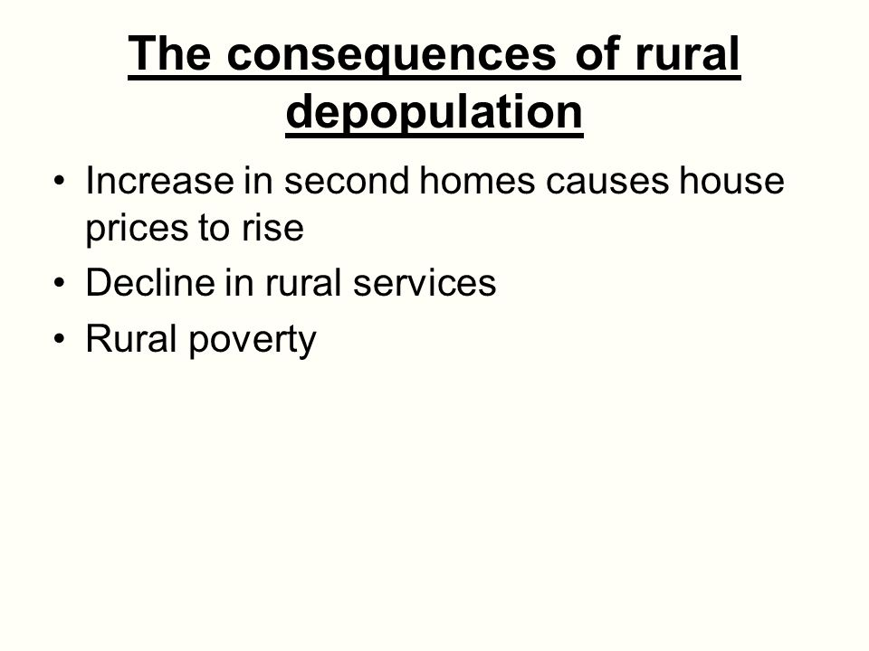 The consequences of rural depopulation