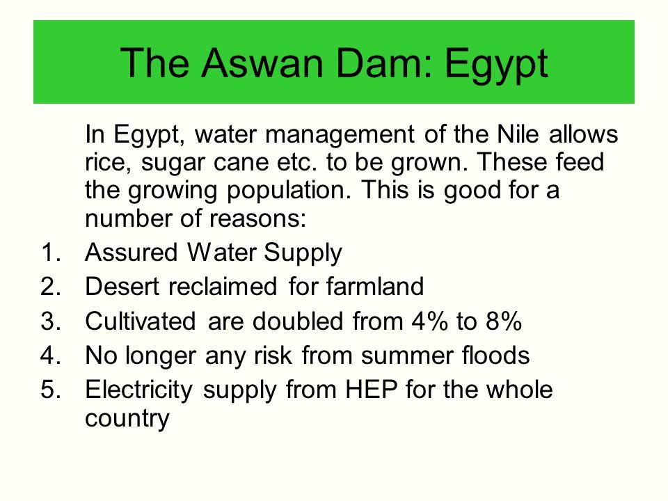 The Aswan Dam: Egypt