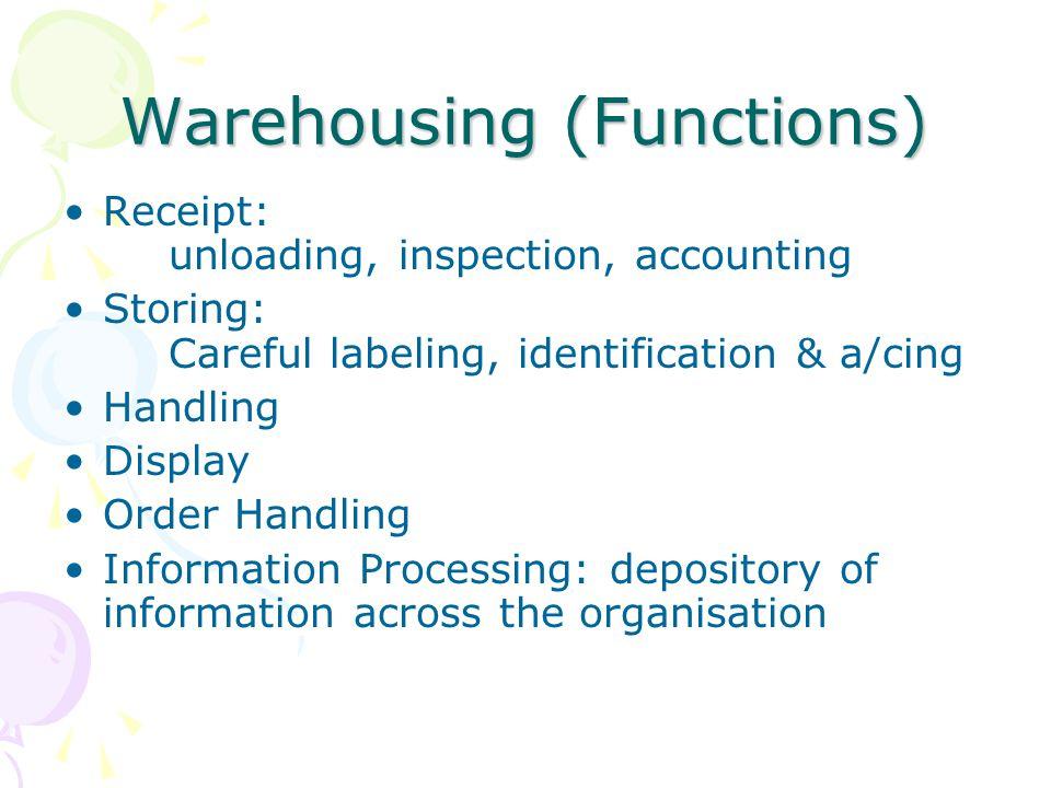 Warehousing (Functions)